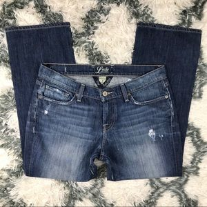 Lucky Brand Women's Ankle Crop Size 8/29 Blue